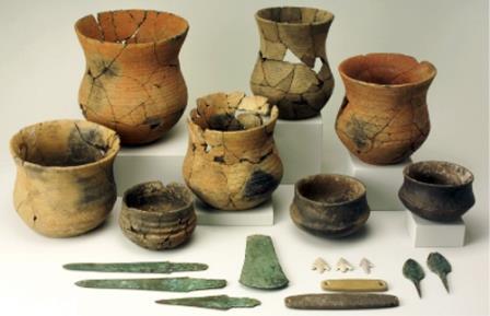 Сосуды и другие предметы, характерные для культуры колоколовидных кубков