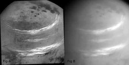 Облака над северным полушарием Титана