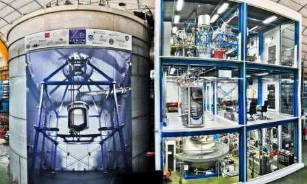 Установка XENON1T в подземном зале Laboratori Nazionali del Gran Sasso