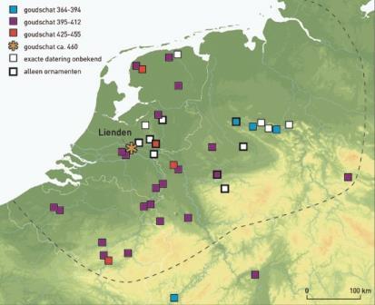 Позднеримские клады на территории исторических Нидерландов
