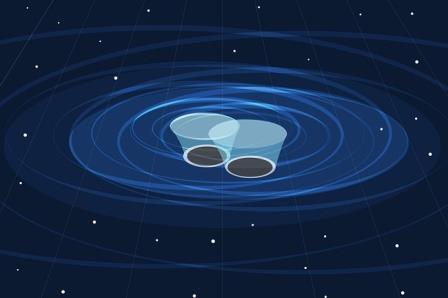 Астрономы впервые наблюдали движение спаренных чёрных дыр