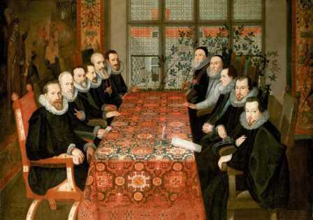 """Картина неизвестного художника """"Конференция в Соммерсет-Хаус"""""""
