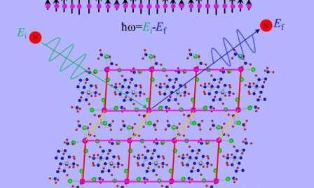 В эксперименте по рассеянию нейтронов образец, содержащий ионы меди, проявлял экзотические квантовые свойства, поскольку некоторые квазичастицы вращаются в волнообразной конфигурации, в конечном счете обнаруживая амплитудный режим Хиггса