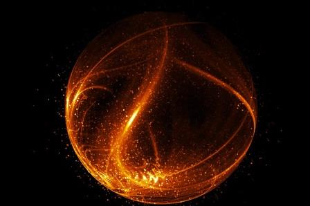 Визуализация атомного ядра с электронами