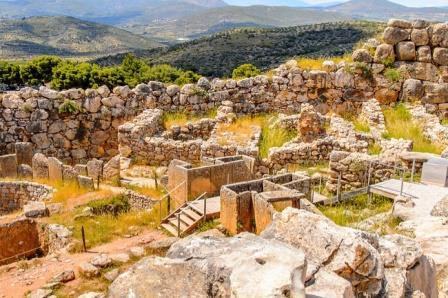 Остатки дворца в Микенах