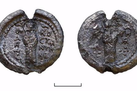 Печать с изображением святых Константина и Марии