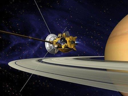 Аппарат «Кассини» возле Сатурна