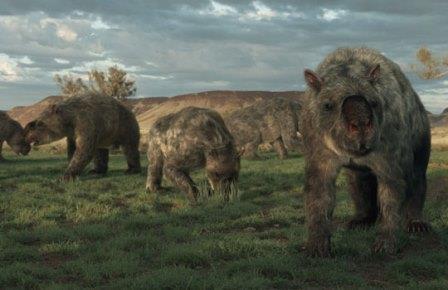 Стадо Diprotodon