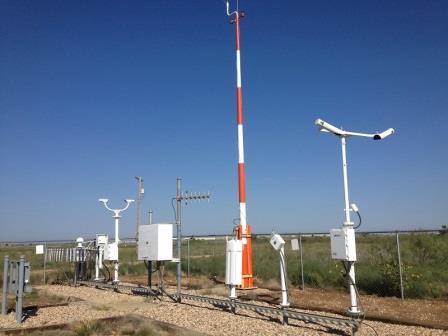 Автоматическая метеостанция в аэропорту Чайлдресс (штат Техас)