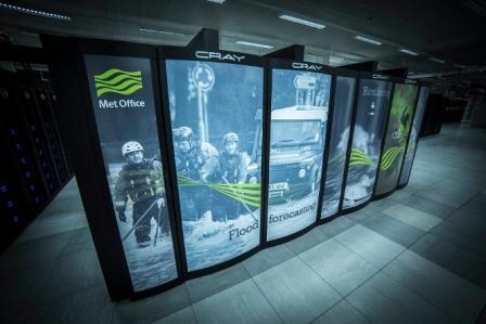 Суперкомпьютер Cray XC40 национальной службы погоды Соединенного Королевства - Met Office