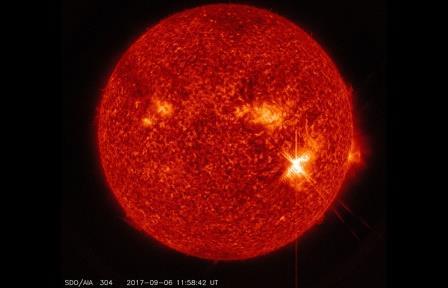 Вспышка на Солнце 6 сентября 2017 года