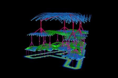 Визуализация схемы опознания компьютерной моделью буквы А