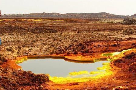 Впадина Данакил в Эфиопии