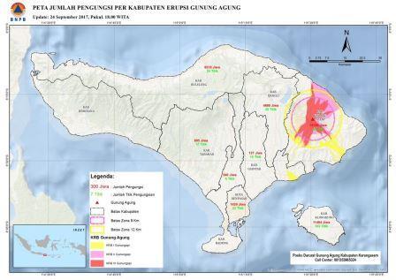Карта возможного распространения потоков лавы по данным volcanodiscovery.com.