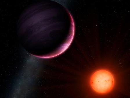 Планета NGTS-1b в представлении художника