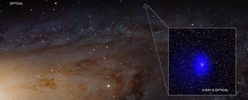 """Совмещенные данные """"Чандры"""" (в рентгеновском диапазоне) и наземных рентгеновских телескопов"""