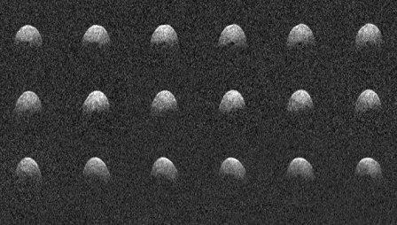 Фотографии астероида Фаэтон, полученные телескопом Аресибо во время его сближения с Землей