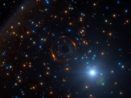 Двойная система с черной дырой в скоплении NGC 3201 © ESO/L. Calçada