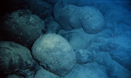 Подушечные базальтовые лавы на дне океана около Гавайских островов