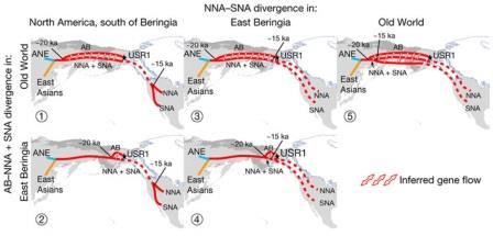 Пять возможных вариантов географической локализации двух ключевых событий