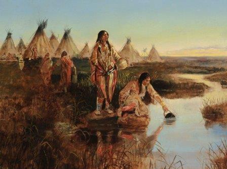 "Чарльз Мэрион Рассел ""Вода для лагеря"" © ArtDaily.org"