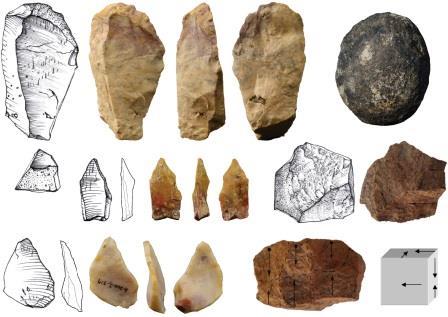 Каменные орудия из Калинга Иллюстрация из обсуждаемой статьи