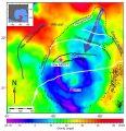 Рис. 1. Гравитационная карта кратера Чиксулуб.