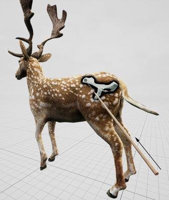 Компьютерная модель лани, убитой неандертальцами © Eduard Pop