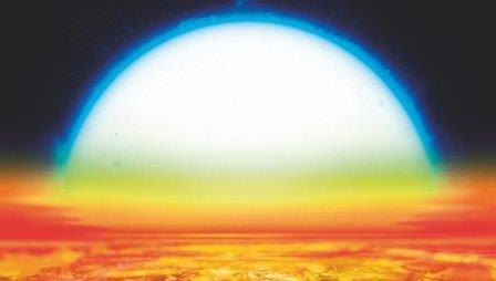 Так художник представил себе планету KELT-9b © Denis Bajram