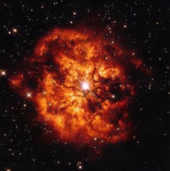 WR 124, звезда Вольфа— Райе © ESA/Hubble & NASA