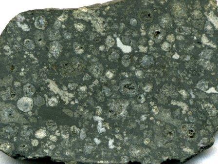 Срез углистого метеорита Альенде © James St. John
