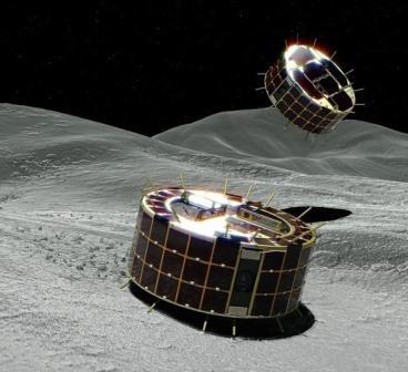 Прыжки на поверхности астероида