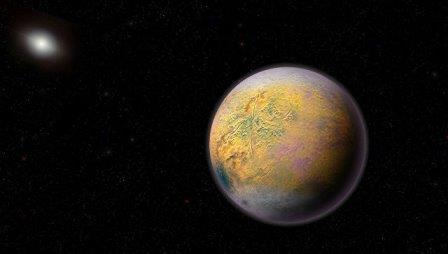 Так художник представил себе планету-икс,  дирижирующую движением карликовых миров Солнечной системы © Roberto Molar Candanosa, Scott Sheppard // Carnegie Institution for Science