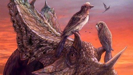 Древние птицы-мирарки,  научившиеся летать отдельно от предков современных пернатых © Brian Eng