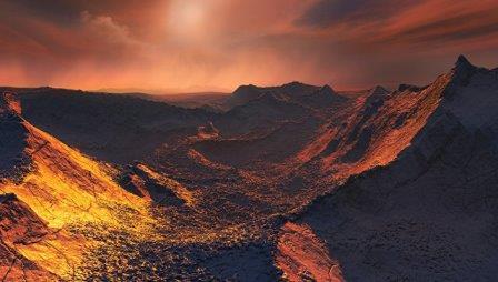 Так художник представил себе планету, открытую у звезды Барнарда © ESO/M. Kornmesser