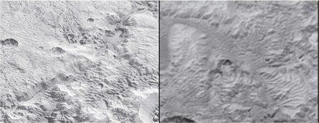 Загадочные каналы на поверхности Плутона © NASA / SwRI/JHUAPL