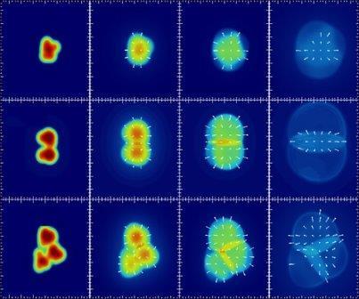 Атомные столкновения (слева) с образованием трех форм плазмы (справа) ©PHENIX, Nature 2018