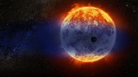 Планета GJ 3470b, теряющая 10-15% массы каждый миллиард лет © NASA, ESA