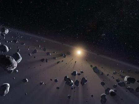 Астероиды в поясе Койпера © ESO/M. Kornmesser