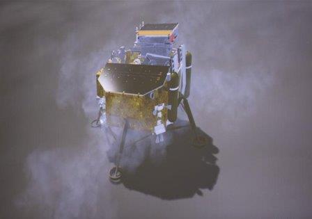 Процесс посадки «Чанъэ-4» © Xinhua/Jin Liwang