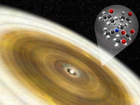Газовый диск звезды V883 Ориона в представлении художника © National Astronomical Observatory of Japan