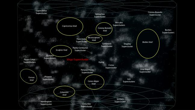 Карта галактических пустот в наблюдаемой Вселенной ©Andrew Z. Colvin