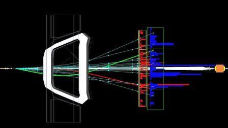 Распад B-мезонов в детекторе LHCb Большого адронного коллайдера© CERN/LHCb