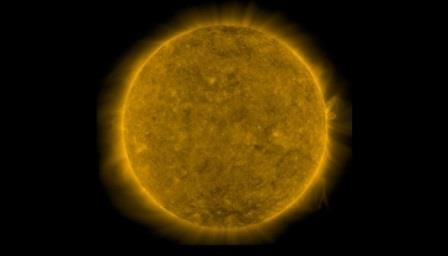 Солнце в минимуме активности - февраль 2019 года © Телескоп AIA на обсерватории SDO