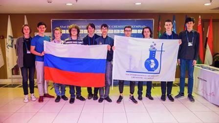 Российские школьники на открытии Международной Менделеевской олимпиаде по химии (IMChO-53) в Санкт-Петербурге©Санкт-Петербургский государственный университет