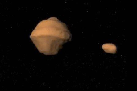 Астероид 1999 KW4 со своей луной ©NASA