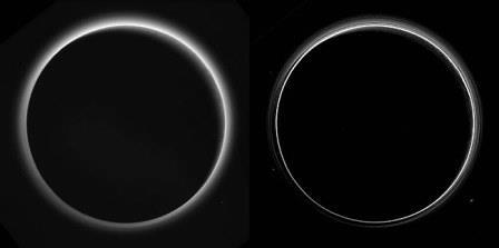 Атмосфера Плутона, которую заснял аппарат «Новые горизонты»© NASA/Johns Hopkins University Applied Physics Laboratory/Southwest Research Institute