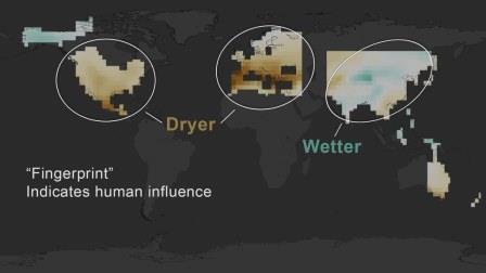 По черным «отпечаткам» можно судить, что засуха в регионе вызвана, скорее всего, человеческой деятельностью© NASA's Scientific Visualization Studio
