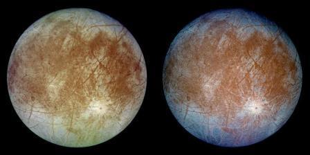 Снимки Европы, сделанные аппаратом «Галилео»© NASA / JPL
