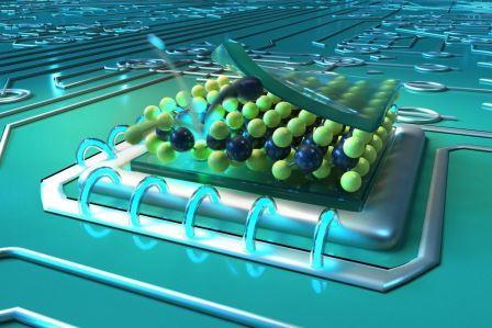 Дефекты в тонких слоях сульфида молибдена, вызванные ионной бомбардировкой гелием, могут служить источниками нано-света для квантовой технологии© Christoph Hohmann / MCQST